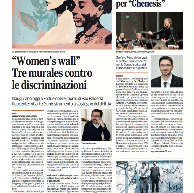 """""""Women's wall"""" Tre murales contro le discriminazioni"""