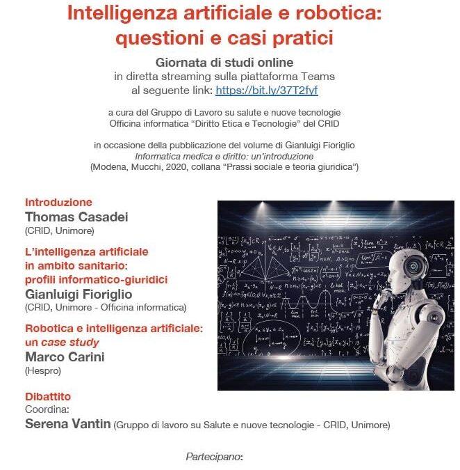 Intelligenza artificiale e robotica: questioni e casi pratici
