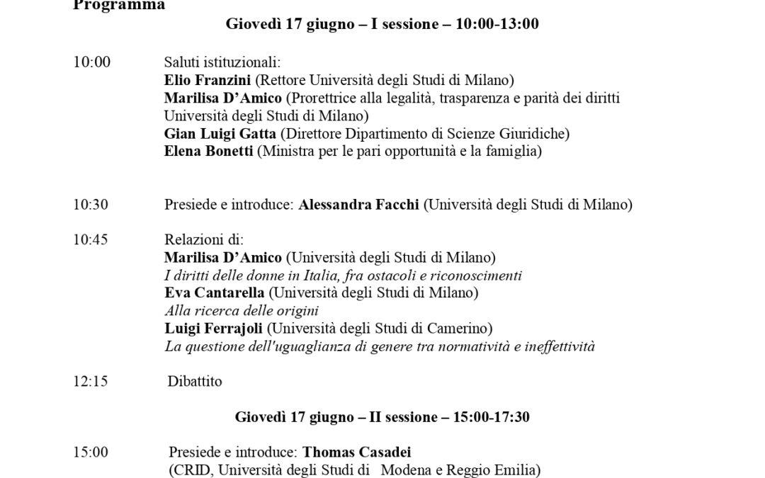 Le diseguaglianze di genere nel diritto italiano vigente