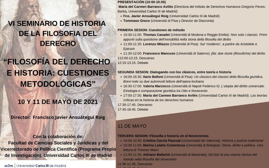 Filosofía del derecho e historia: cuestiones metodológicas