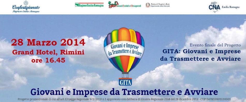 28.03.14 – Evento finale del Progetto GITA: Giovani e Imprese da Trasmettere e Avviare – Rimini