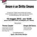 15.05.12 – Amare è un Diritto Umano – Modena