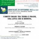 28.11.12 – I diritti umani: tra teoria e prassi, una lotta che si rinnova – Forlì