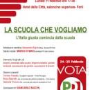 11.02.13 – La scuola che vogliamo – Forlì