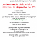 Le domande della crisi e il lavoro: le risposte del PD